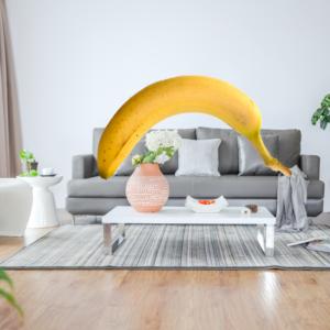 バナナの置き方