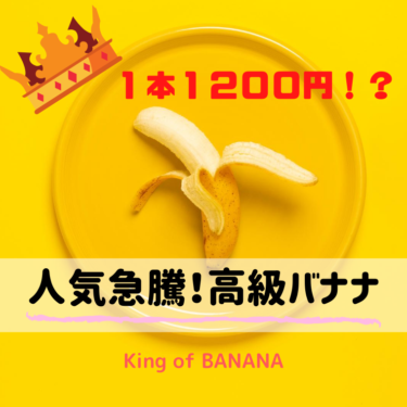1本1200円!?人気沸騰中の「高級バナナ」がアツい!