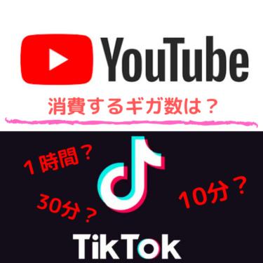 YouTubeやTikTokで消費するギガ数・通信量はどのくらい?通信量節約方法も!